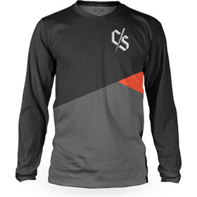 Loose Riders Slant Longsleeve Jersey Heren, black/grey/orange